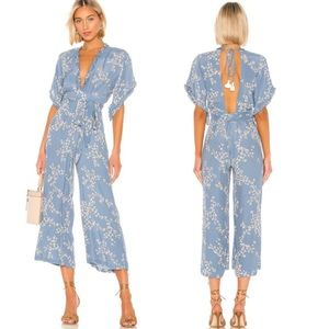 Faithfull The Brand  Blue La Villa Jumpsuit sz S